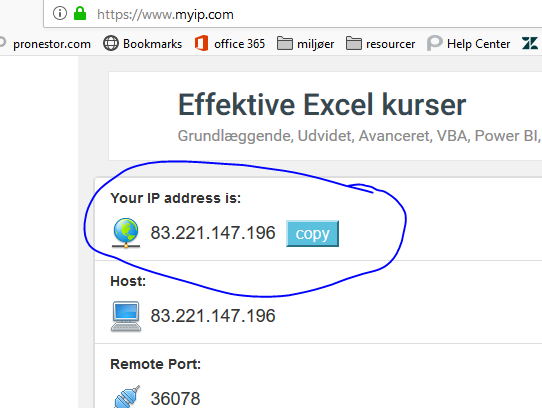 find your external ip address